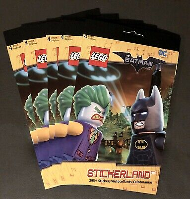 $13.97 • Buy NEW 5 Stickerland LEGO Batman Movie Books 295+ Stickers Each! Party Favors Gifts