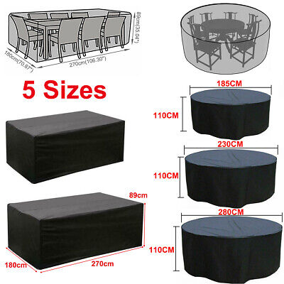 AU30.95 • Buy New 8 Seater Waterproof Outdoor Furniture Cover Garden Yard Patio Table Cover AU