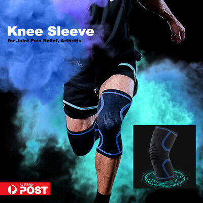 AU13.95 • Buy Knee Sleeve Knee Brace Support Compression For Joint Pain Relief Arthritis