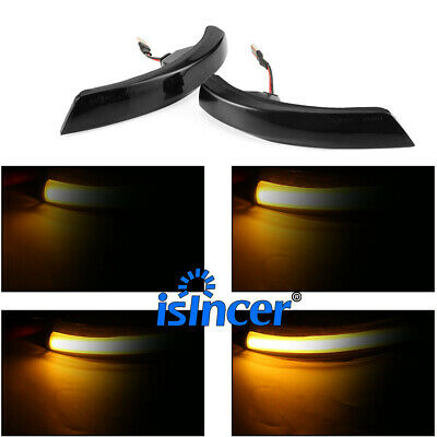 Sequential Smoked LED Side Mirror Turn Signal Lights Blink For Mondeo Mk4 10-14 • 30.99$