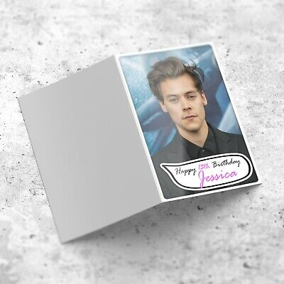 £2.95 • Buy HARRY STYLES Personalised Birthday Card For Girls Sister Niece Friend Cousin