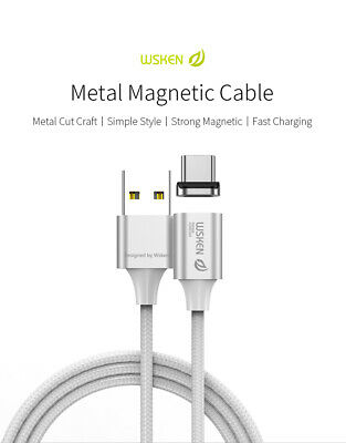 AU11.99 • Buy WSKEN X2 Type-C USB-C Charger Magnetic Charging Cable Fast Charge Braided Cord