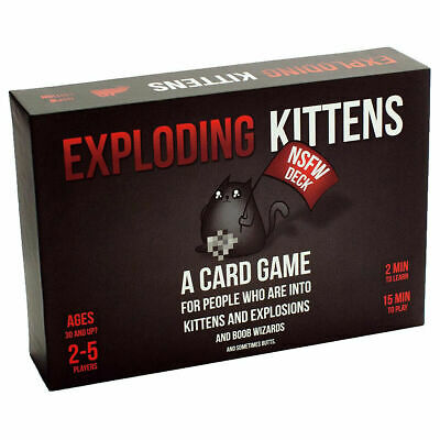 AU18.93 • Buy NEW SEALED Exploding Kittens Card Game  NSFW  (BLACK) Kitten Party Board Game