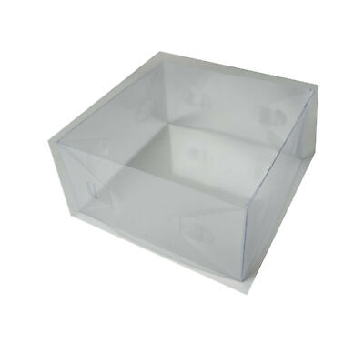 Clear Fascinator, Tiara, Flower, Display Boxes. Pack Of 10. 20cm X 20cm X 8cm. • 4.95£
