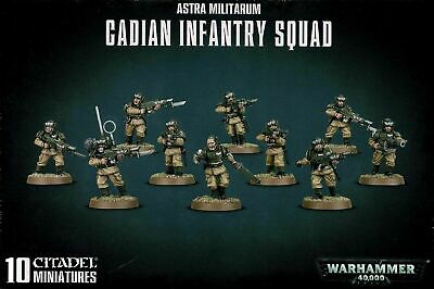 £19.95 • Buy Warhammer 40,000 Imperial Guard Astra Militarum Cadian Infantry Squad
