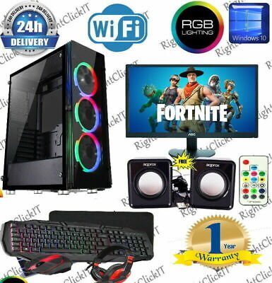 Fast Gaming PC Computer Bundle Intel Quad Core I5 8GB 1TB Windows 10 2GB GT710 • 279.99£