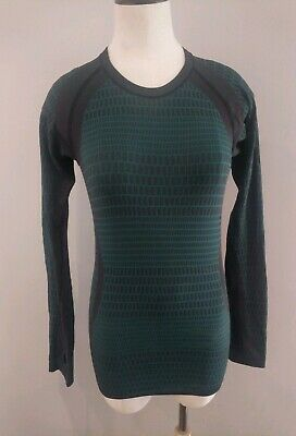 $ CDN35.42 • Buy Lululemon About That Base Long Sleeve Size 4 Black Forage Teal