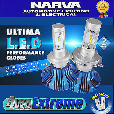 AU155 • Buy Narva H8 H9 H11 LED Headlight Performance Globes 12v 24v 5700k Xenon 18411