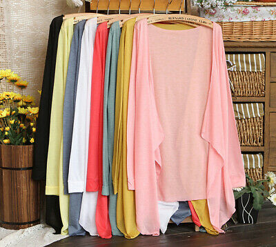 AU9.48 • Buy Summer Women Lady Clothing Modal Cover Up Long Sun Protection Thin Cardigan Tops