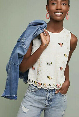 $ CDN63.07 • Buy NEW Anthropologie Dylan Embroidered Top Size XL Sahil Kochhar