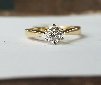 18ct Gold Solitaire Diamond Ring 0.50ct • 695£