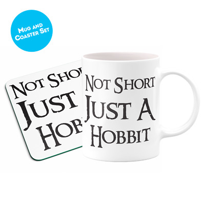 Not Short Just A Hobbit 1 Mug Funny Short People Gift Girlfriend Christmas • 8.99£