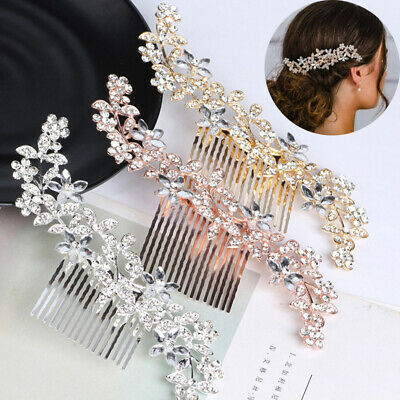 $2.84 • Buy Wedding Diamante Crystal Hair Comb Pins Clips Rhinestone Bridal Hair Accessories