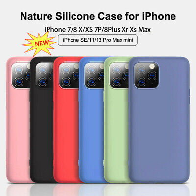 AU8.50 • Buy IPhone 11 Pro Max X XS MAX XR 7 8P Case Liquid Silicone Protector Case Slim Skin
