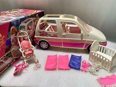 $95 • Buy *RARE* Vintage 1995 Mattel Barbie Picnic Mini Van With Extras - Free Shipping!