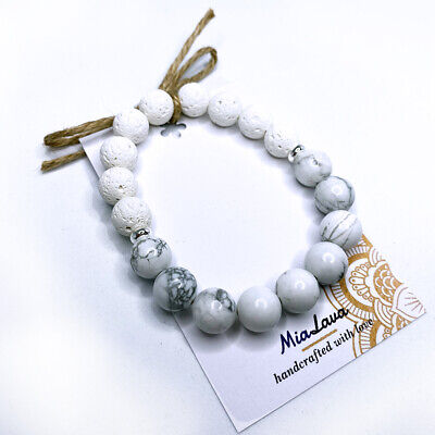 AU22 • Buy Aromatherapy Diffuser Bracelet - Serenity - Calming - Hand Crafted In Australia