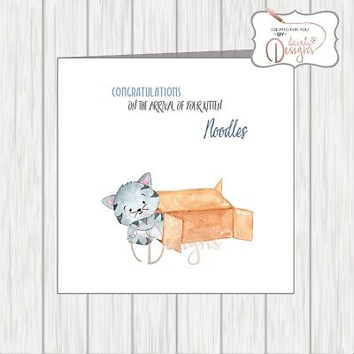Personalised Card Congratulations On Your New Pet Cat Kitten Welcome To New Home • 3.25£