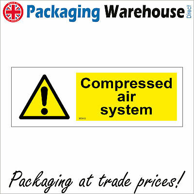 Ws933 Compressed Air System Sign Caution Health And Safety Hazard Oxygen • 2.95£
