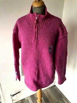 Pachamama Chunky Hippy Pink Jumper Size S/M Chest 46 • 24.99£