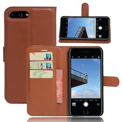 AU9.18 • Buy IPhone 7 Plus Case Folio Leather Wallet Case Cover With Kickstand & Card Slots