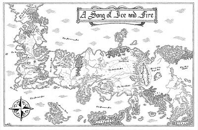 £9.99 • Buy Game Of Thrones A Song Of Ice And Fire Map Poster Print T1710 |A4 A3 A2 A1 A0|