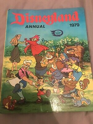Disneyland Annual 1979 Used Good Book Pinocchio Seven Dwarves Cinderella • 3.50£