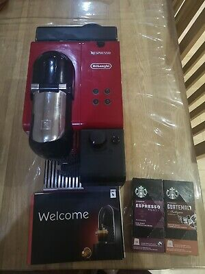 View Details DeLonghi EN550.R 3 Cups Coffee Maker - Red With Free Starbucks Capsules • 65.00£
