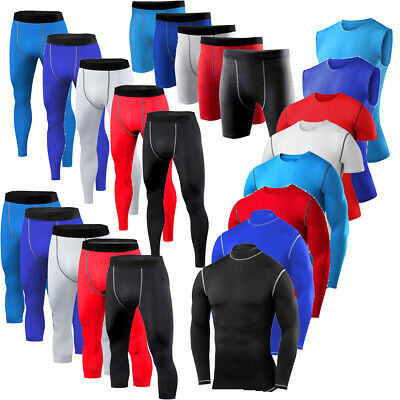 £4.99 • Buy Mens Armour Compression Base Layer Tops Shirt Shorts Pants Gym Sports Clothes