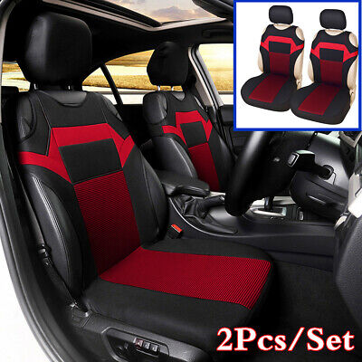Universal T-shirt Design Car Front Seat Cover Cushion Four Seasons Pad Black/Red • 14.89£