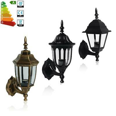 Bronze Black Vintage Outdoor Wall Light Lantern Style Retro 4/6-Side Lamp Shade • 9.97£
