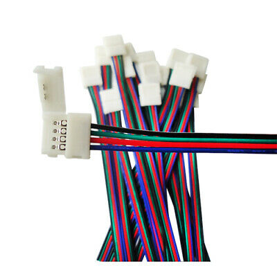 5X LED To Strip Connect Line Quick Connector FOR 5050 RGB Flexible Light 10MM • 3.99$