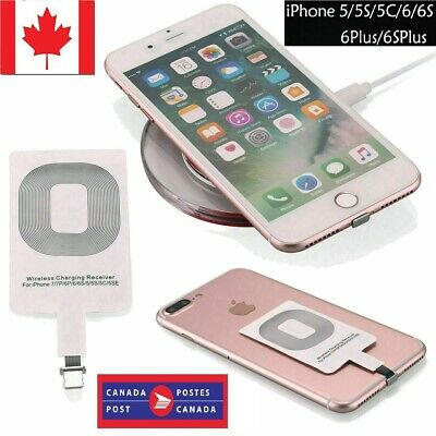 $ CDN9.90 • Buy NEW Qi Wireless Charger Adapter Charging Receiver For IPhone 7 7Plus 6S+ 6 SE 5S