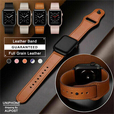 AU11.19 • Buy 【Genuine Leather】Apple Watch Band Strap For IWatch Series 5 4 3 2 1 38 42 40 44m