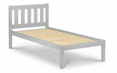 Light Grey Solid Pine 3′ Single Bed Frame L201cm X D98cm X H92cm MADRID • 149£