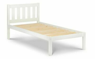 Pure White Solid Pine 3′ Single Bed Frame L201cm X D98cm X H92cm MADRID • 149£