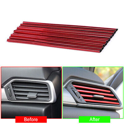 AU4.34 • Buy 10x Car Accessories Air Conditioner Air Outlet Decoration Bright Strip Colorful