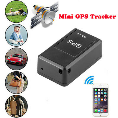 GF-07 Magnetic Mini Car SPY GPS Tracker Real Time Tracking Locator Device Voice • 4.99£