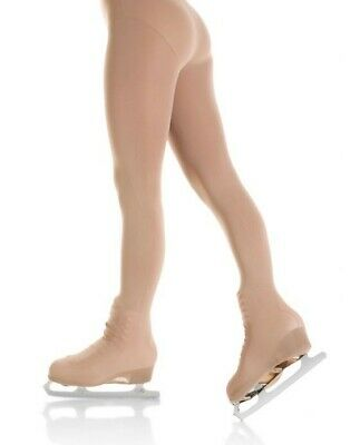 Mondor 3338 Ice Skating Over The Boot Skating Tights In Suntan Size Small Adults • 16£