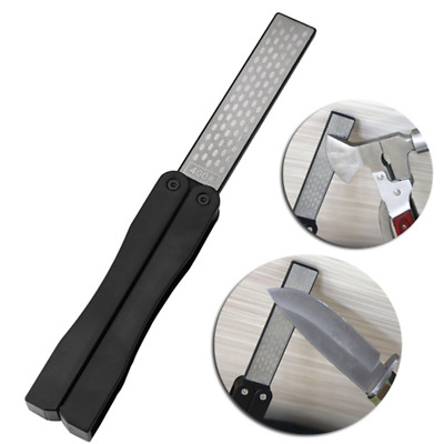 $3.29 • Buy Portable Double Sided Fold Pocket Sharpener Diamond Knife Sharpening Stone