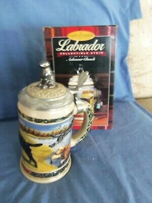 $ CDN78.65 • Buy Budweiser Lidded Beer Stein Black Labrador Lab Dogs Hunters Companion S# 00125