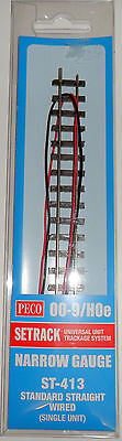 Peco  ST-413 Standard Straight Wired Narrow Gauge Track 009/HOe • 8.75£
