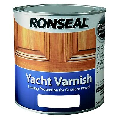 Ronseal Yacht Varnish Satin Or Gloss, 250ml, 1.0l Or 2.5l - Outdoor Tough Clear • 29.99£