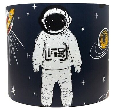 £26.99 • Buy Space Lampshade Light Shade Spaceman Rocket Boys Kids Bedroom Accessories Gifts