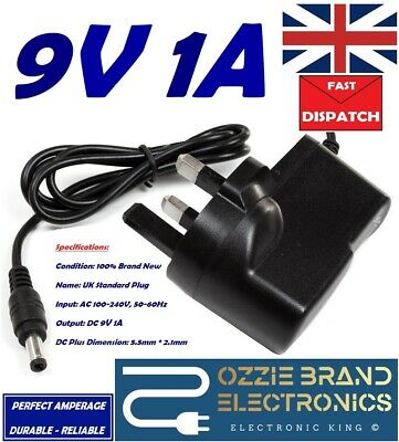 £8.80 • Buy UK 9V AC/DC Adaptor Power Supply To Fit Model PT41-0900500 4 Piano Keyboard