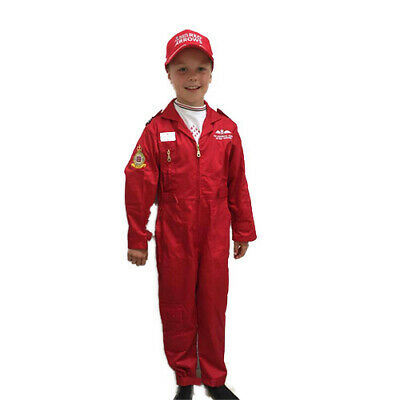 Official Licensed RAF Red Arrows  Childrens Flying Suit Overalls Costume Pilot  • 22£