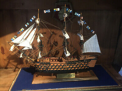 HMS Victory, Model Sailing Ship. Limited Edition. Original Wood From HMS Victor. • 499.99£