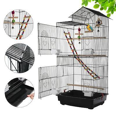 £52.69 • Buy Roof Top Bird Cage Parrot Canary Modern Cockatiel Conure Huge House W/Toys UK