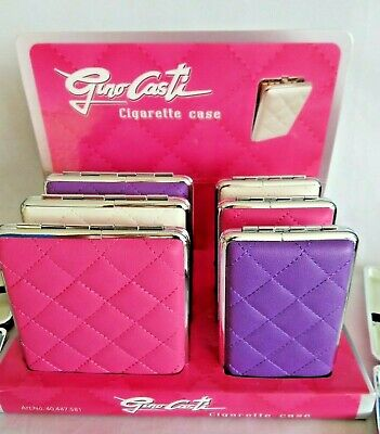 Cigarette Case By Gino Casti  ( King Size ) Plaid Design Choice Of Size & Colour • 7.45£