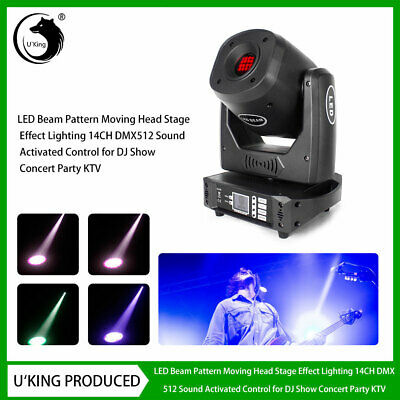 U`king90W LED Beam Stage Light Rotate Gobo Pattern Moving Head DMX DJ Show Party • 186.99£