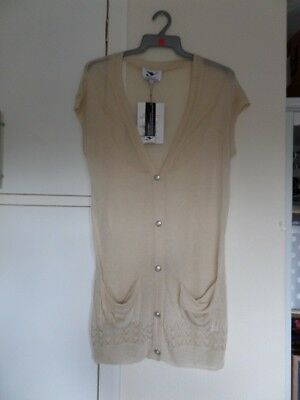AU10.97 • Buy Y London Y366 Ladies Cream Knit Tunic Top Size S/8